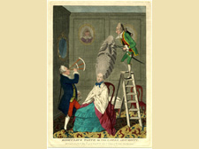 """""""Ridiculous Taste or the Ladies' Absurdities"""", by M. Darly, 1771<br />© British Museum, London"""